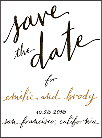 Gracieux Letterpress Save The Date Design Medium