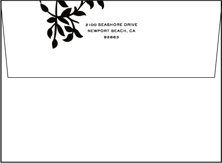 Gramercy Letterpress Envelope Design Medium