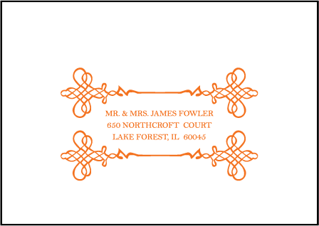 Greenwich Letterpress Reply Envelope Design Medium