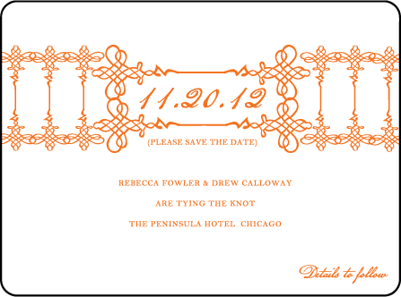 Greenwich Letterpress Save The Date Design Medium