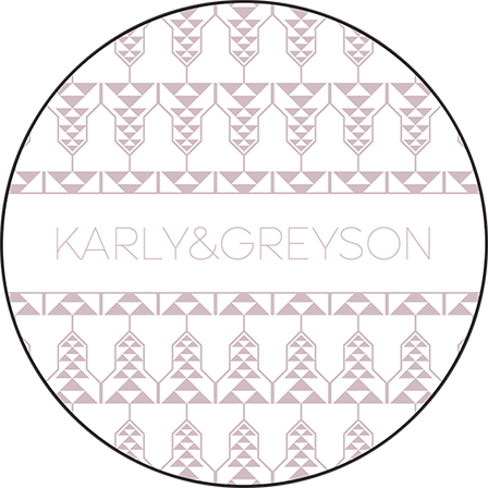 Greyson Letterpress Coaster Design Medium