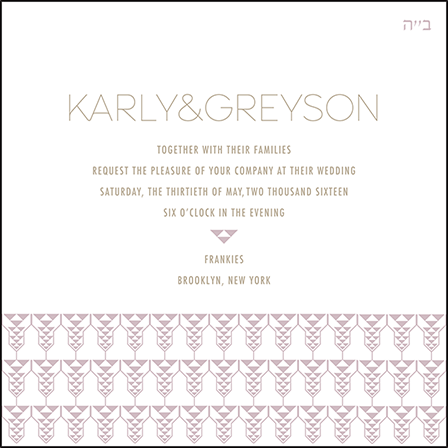 Greyson Letterpress Invitation Design Medium
