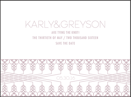 Greyson Letterpress Save The Date Design Medium
