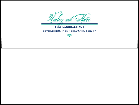 Hailey Modern Letterpress Envelope Design Medium