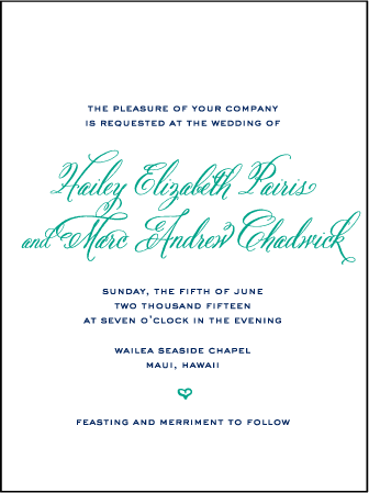 Hailey Modern Letterpress Invitation Design Medium
