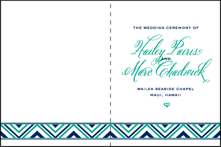Hailey Modern Letterpress Program Design Medium