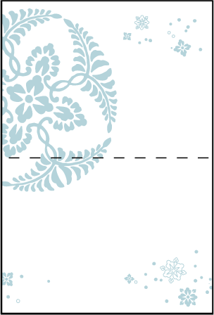 Hana Letterpress Placecard Fold Design Medium