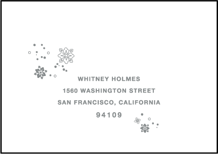Hana Letterpress Reply Envelope Design Medium