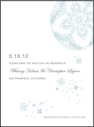 Hana Letterpress Save The Date Design Medium