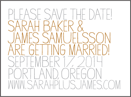 Handdrawn Letterpress Save The Date Design Medium