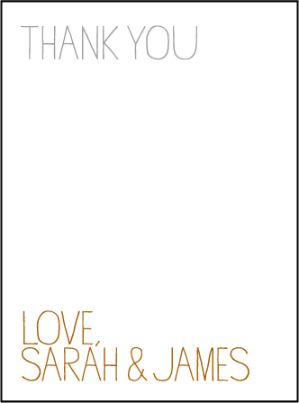 Handdrawn Letterpress Thank You Card Flat Design Medium
