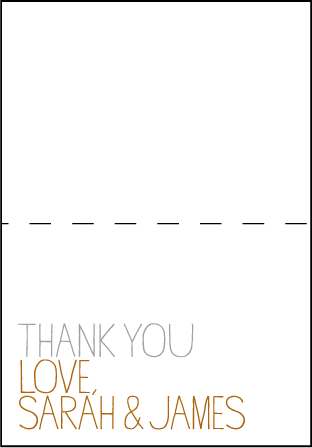 Handdrawn Letterpress Thank You Card Fold Design Medium