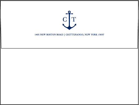 Harbor Beach Letterpress Envelope Design Medium