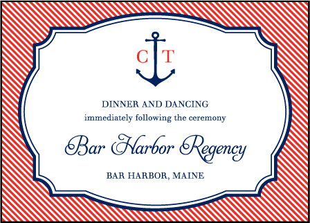 Harbor Beach Letterpress Reception Design Medium
