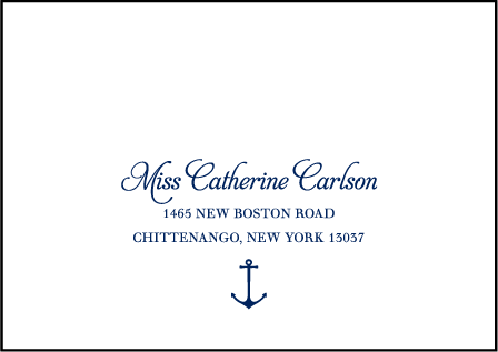 Harbor Beach Letterpress Reply Envelope Design Medium