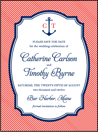 Harbor Beach Letterpress Save The Date Design Medium