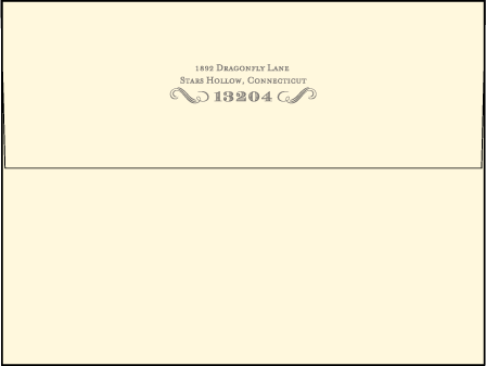 Harlow Letterpress Envelope Design Medium