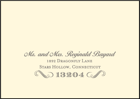 Harlow Letterpress Reply Envelope Design Medium