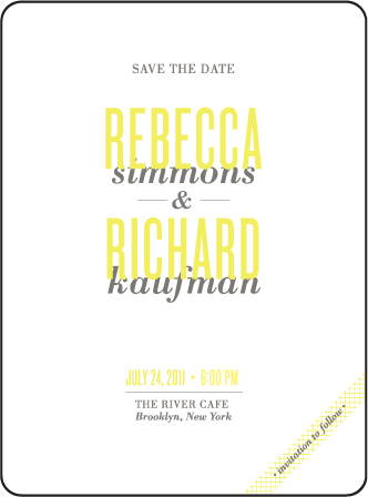 Harper Letterpress Save The Date Design Medium