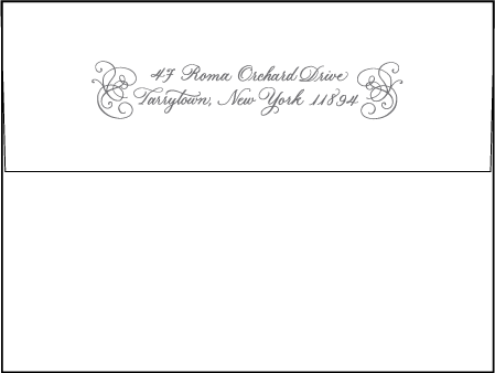 Hayes Calligraphy Letterpress Envelope Design Medium