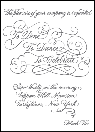 Hayes Calligraphy Letterpress Reception Design Medium