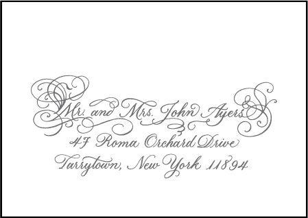 Hayes Calligraphy Letterpress Reply Envelope Design Medium