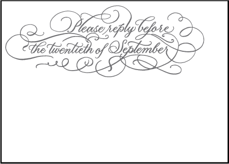 Hayes Calligraphy Letterpress Reply Design Medium