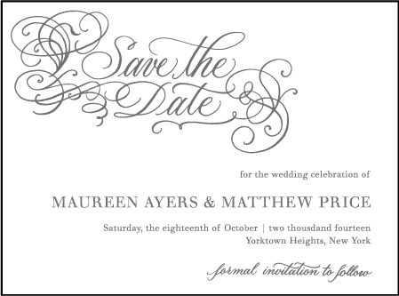 Hayes Calligraphy Letterpress Save The Date Design Medium