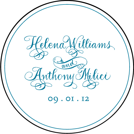 Helena Letterpress Coaster Design Medium