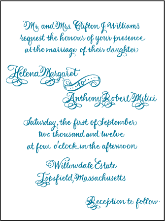 Helena Letterpress Invitation Design Medium