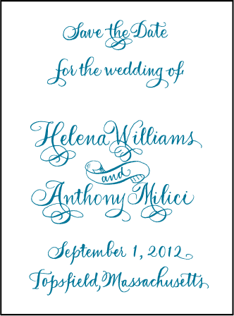 Helena Letterpress Save The Date Design Medium