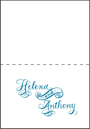 Helena Letterpress Thank You Card Fold Design Medium