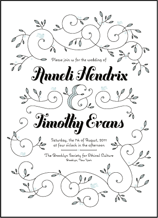 Hendrix 2 Letterpress Invitation Design Medium