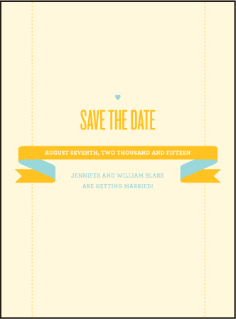 Herald Letterpress Save The Date Design Medium