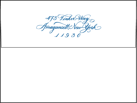 Honoured Guest Letterpress Envelope Design Medium