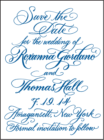 Honoured Guest Letterpress Save The Date Design Medium