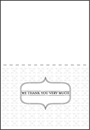 Hoxton Letterpress Thank You Card Fold Design Medium