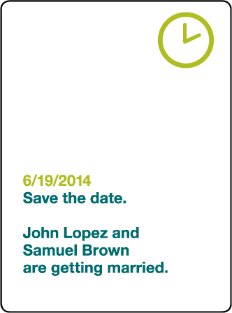 Iconic MM Letterpress Save The Date Design Medium