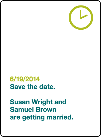 Iconic MW Letterpress Save The Date Design Medium