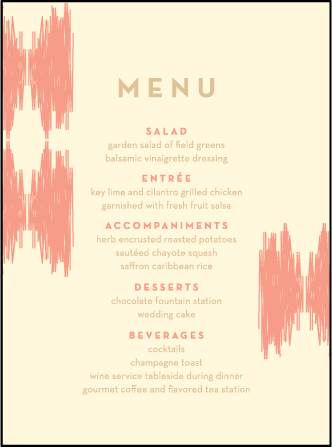 Ikaty Letterpress Menu Design Medium