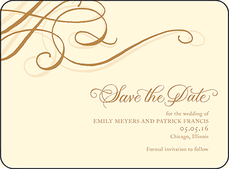 Illuminer Letterpress Save The Date Design Medium