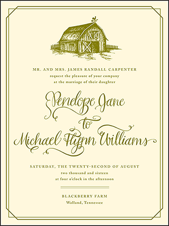 Imogene Letterpress Invitation Design Medium
