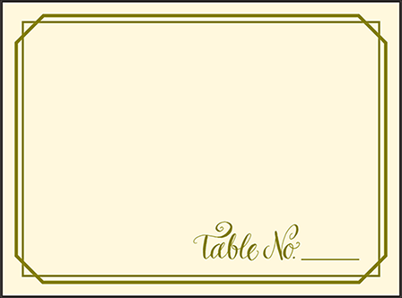Imogene Letterpress Placecard Flat Design Medium