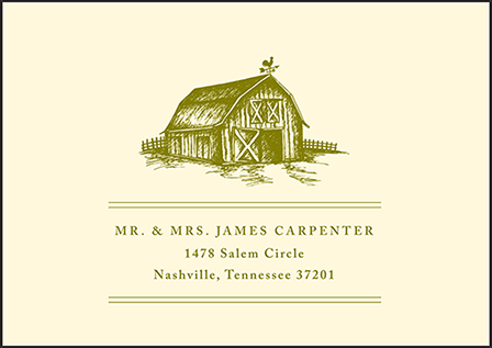 Imogene Letterpress Reply Envelope Design Medium