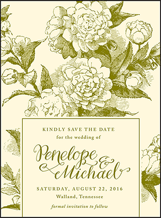 Imogene Letterpress Save The Date Design Medium