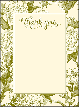 Imogene Letterpress Thank You Card Flat Design Medium