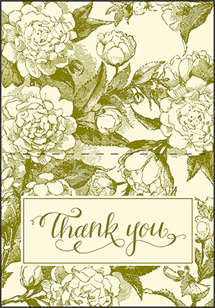 Imogene Letterpress Thank You Card Fold Design Medium