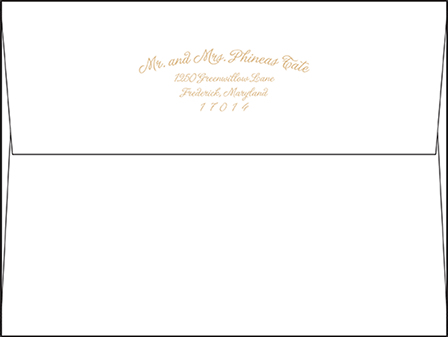 Indian Summer Letterpress Envelope Design Medium