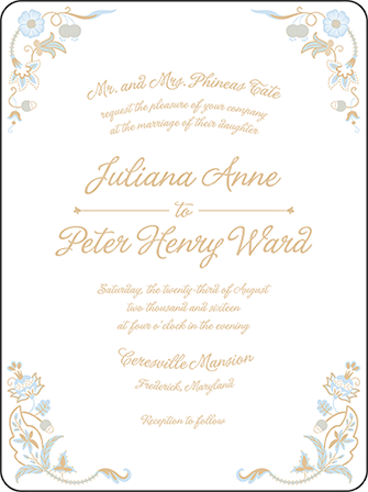 Indian Summer Letterpress Invitation Design Medium