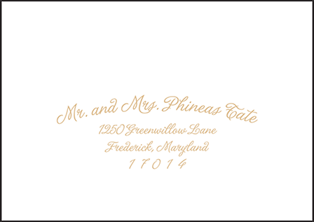 Indian Summer Letterpress Reply Envelope Design Medium